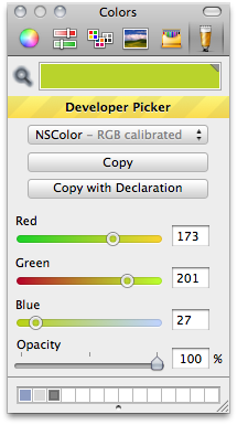 Developer Color Picker screenshot
